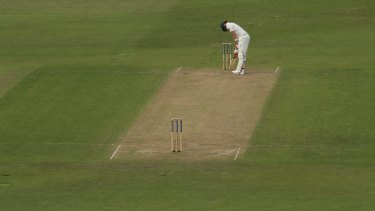 Steve Smith of Australia looks dejected after being dismissed by Stuart Broad.