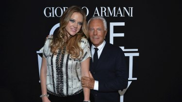 Ginia Rinehart and Giorgio Armani.  photo.JPG