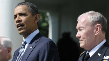 Awaiting final approval tests ... General Martin Dempsey pictured with Barack Obama.