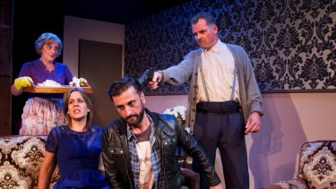 Family drama: Alice Livingstone, Ainslie McGlynn, Terry Karabelas, Peter Astridge.