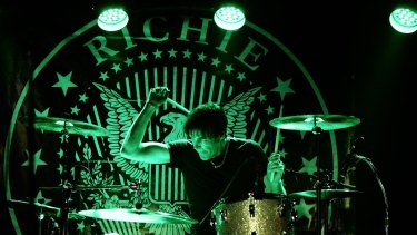 Richie Ramone played drums on three Ramones albums during the 1980s.