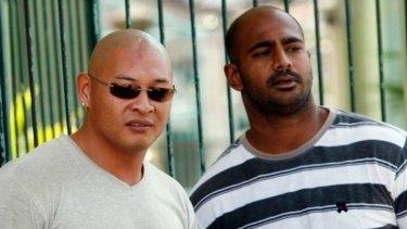 Australian Andrew Chan (L) and Myuran Sukumaran (R) face execution.