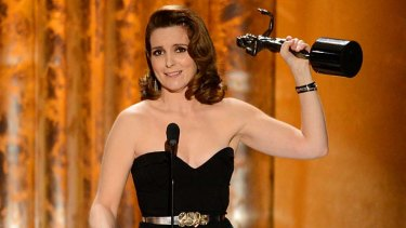 """""""Amy I've known you since you were pregnant with Lena Dunham"""" ... Tina Fey wins for 30 Rock."""