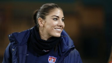 US goalkeeper Hope Solo.