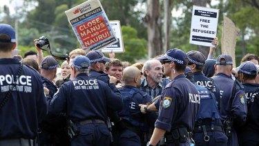 Protest outside Villawood detention centre.