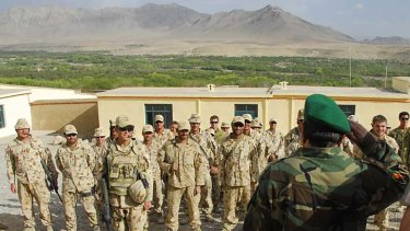 Australian troops at a forward operating base in the Chora Valley, Afghanistan.