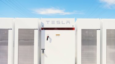 Tesla batteries connected to distribution circuits at Southern California Edison's Mira Loma substation..