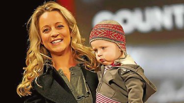 Carrie Bickmore and son Oliver.