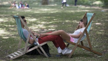"""Feeling the heat: Britons are in the middle of a """"heatwave""""."""