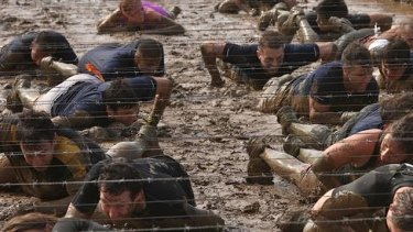 Mud, mud, glorious mud, nothing quite like it for cooling the blood: getting down and dirty on Phillip Island?s Tough Mudder course.