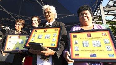 Long wait: Linda Boney, Marie Bashir, daughter Shirley Saunders and granddaughter Sandra Suey.