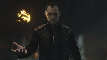 Jude Law as Vortigern in the new <i>King Arthur</i>.