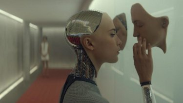 Alicia Vikander as the humanoid, Ava, is curious and inscrutable.
