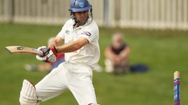 Fired up ... Simon Katich in action during the Sheffield Shield in March.