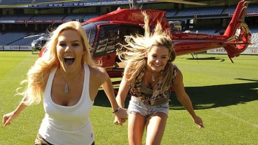 The contestants competing in the around-the-world challenges of Channel Seven's The Amazing Race are a diverse group, including blonde duo Sam Schoers and Renae Wauhop, a former Miss Universe contestant.