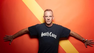 Fatboy Slim, aka Norman Cook, played the Brisbane Riverstage on Monday night.