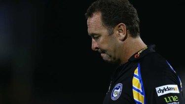 Tough season: Parramatta coach Ricky Stuart.