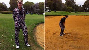 Richard's custom-made suit - along with spiky-haired visor made him an easy choice as WA's worst-dressed golfer.