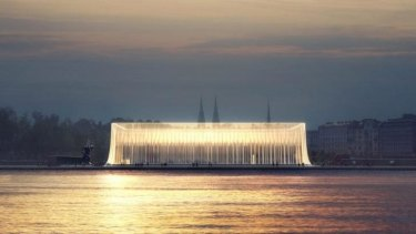 Competition: One of two unnamed designs of six finalists for Helsinki's Guggenheim building.