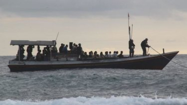 An asylum seeker boat, in a file photo.
