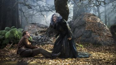 Witchery: James Corden and Meryl Streep star in Into the Woods.