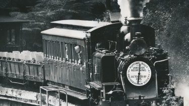 Puffing Billy in 1975.