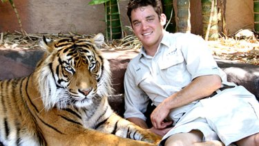 Dave Styles with Ranu at Australia Zoo.