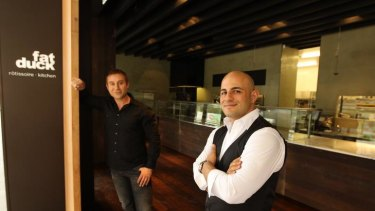 George Nahas, right, and Tom Chidiac ... forced to change the name of their restaurant.