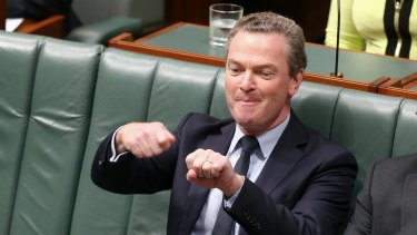 Leader of the House Christopher Pyne during question time on Tuesday.