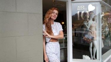 Alice McCall in her Paddington boutique