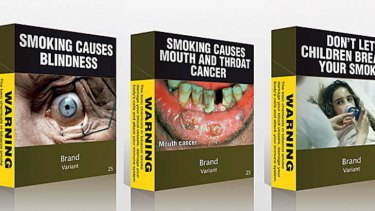 'Encouraging results': Plain pack smokers were 81 per cent more likely to have thought about quitting.