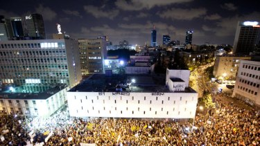 Thousands converged on the streets of Tel Aviv on Saturday to protest against the cost of consumer products and housing in Israel.
