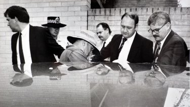 David Eastman, in hat, was arrested for the murder of Colin Winchester in 1992.