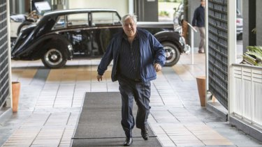 Palmer United Party founder Clive Palmer at his Coolum resort, which featured in ads during the election commericial blackout period.