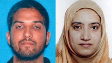 Syed Rizwan Farook, left, and Tashfeen Malik who attacked Farook's office Christmas party, leaving 14 people dead and 21 injured.