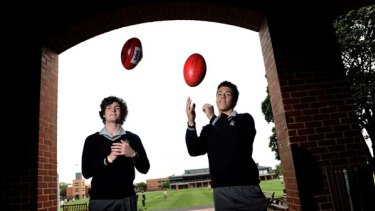 Recruits ... Tom Bugg, left, and Dylan Shiels have been drafted by Team Greater Western Sydney.