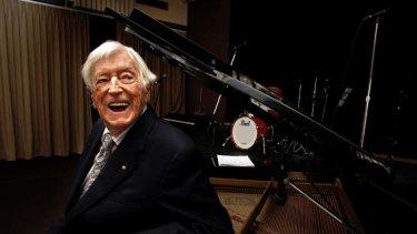 Australian jazz pioneer ... ARIA hall-of-famer Graeme Bell at his piano in 2004.
