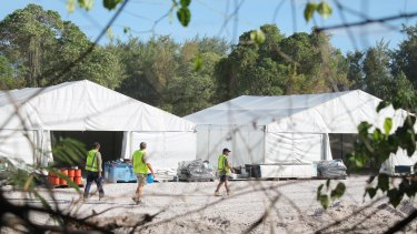 A refugee processing centre on Nauru.