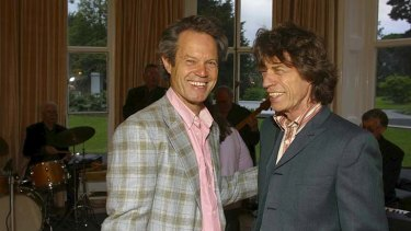 Bridging the divide ... brothers Chris and Mick Jagger together.