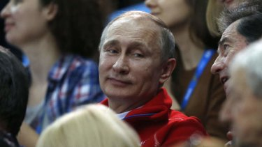 Keen spectator ... Russia's President Vladimir Putin says criticism of the Sochi Winter Olympics is unfair.
