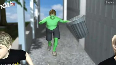 Transformed into a mini Incredible Green Hulk online.