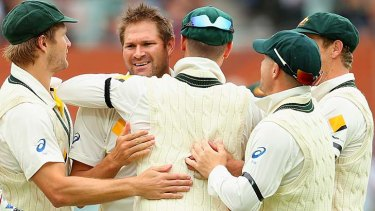 Ryan Harris finally got rewarded for his consistency with two wickets on the final day.