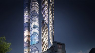 A competition-winning proposal for an 83-storey tower in Parramatta's CBD.