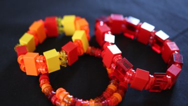 Lego jewellery made by Rolanda Markovski.