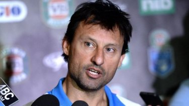 In demand: Cronulla will approach victorious Blues coach Laurie Daley about taking over the club for the rest of the season.