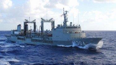 Australian replenishment tanker HMAS Success.