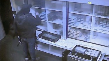The video shows the gunman collecting casino chips during his rampage.