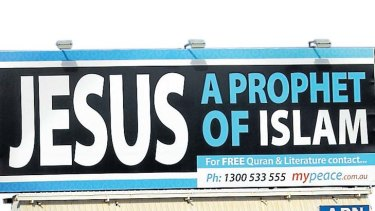Thought-provoking? Yes it is ... an advertisment paid for by Islamic group MyPeace.