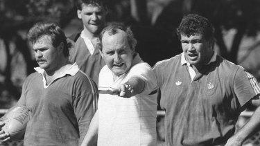 Alan Jones coaching the Wallabies in 1987.