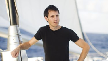 'It was a surreal, disconcerting experience' ... Greenpeace activist Aaron Gray-Block, pictured here on the Rainbow Warrior in 2012, was refused entry to India.
